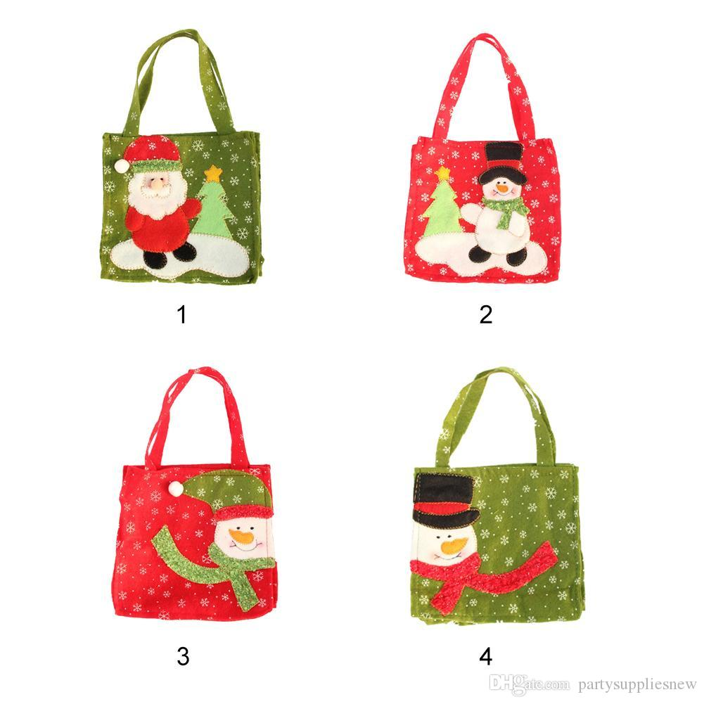 Santa Claus/Snowman Christmas Stocking Gift Bag Christmas Candy Bags Xmas Decor