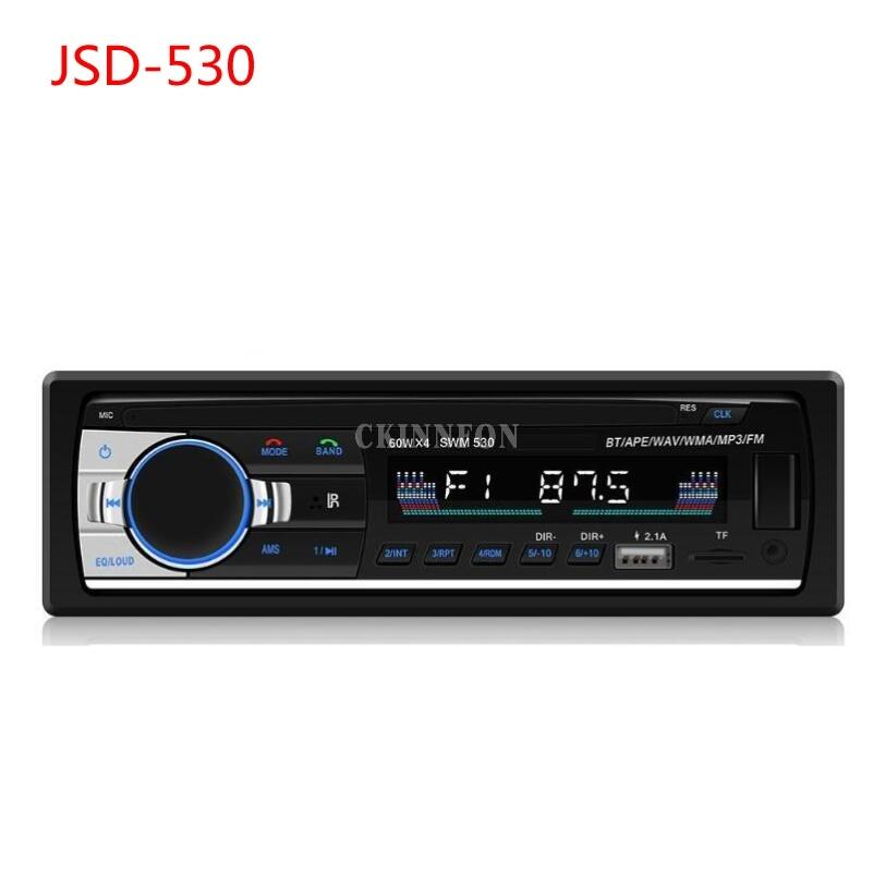 10Pcs/Lot Car Radio Super Jsd-530 USB Charge Autoradio 12V Audio 1Din Stereo Player Phone Bluetooth/AUX-IN/MP3/ISO