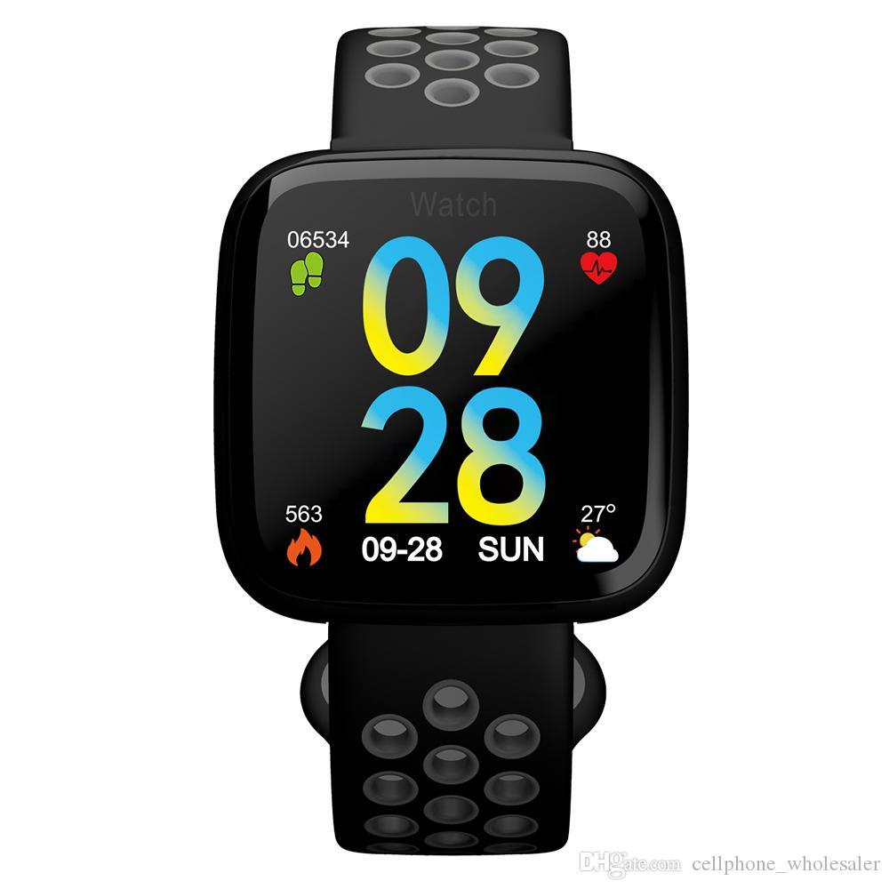 F15 Smart-Armband-Uhr-Blutdruck-Blut-Sauerstoff-Puls-Monitor IP68 Fitness Tracker Smart-Armbanduhr für IOS Android Phone Watch