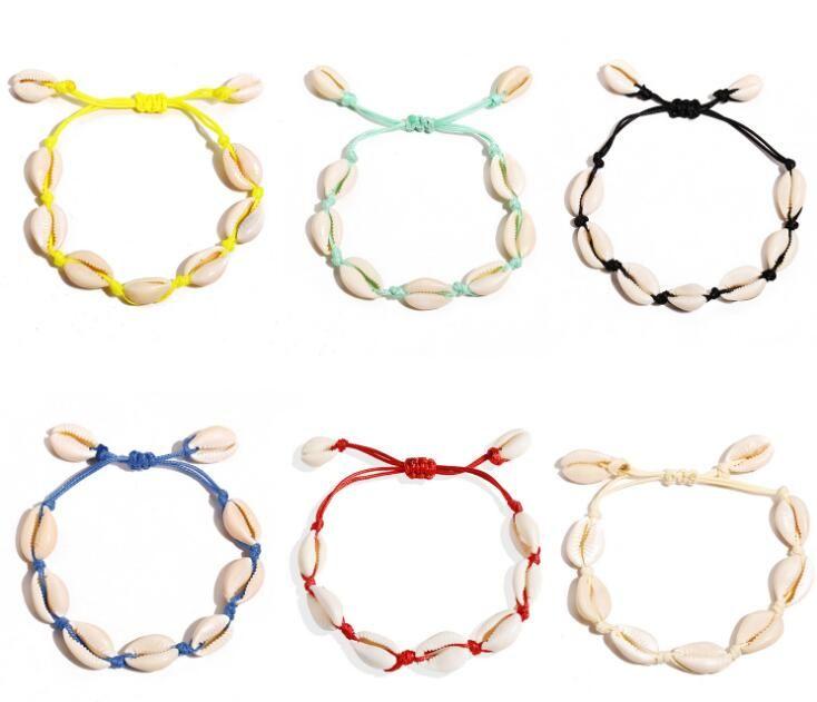 كاورى أساور شل للمرأة حساسة حبل سلسلة مجوهرات سوار الخرز سحر سوار البوهيمي بيتش GB861