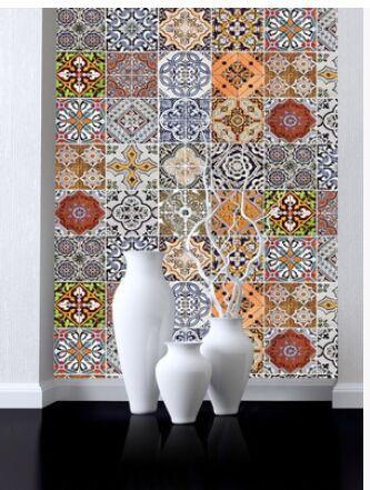 Bohemian Style Pvc Self Adhesive Wallpaper Wall Sticking Furniture Renovation Stair Sticking Kitchen Tile Free Wallpapers Photos Free Wallpapers