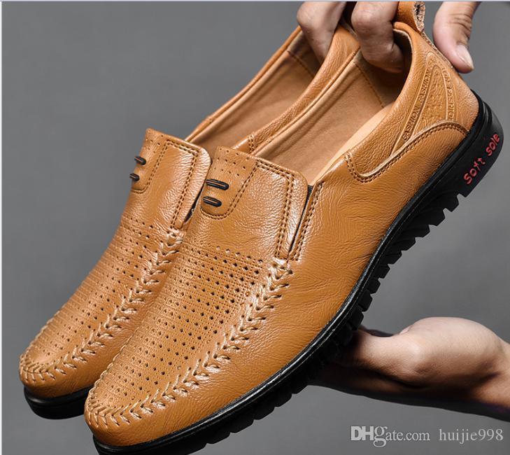 Neue Herren Leder Freizeitschuhe England Business wilde faule Schuhe weichen Boden fahren Schuhe Shike70