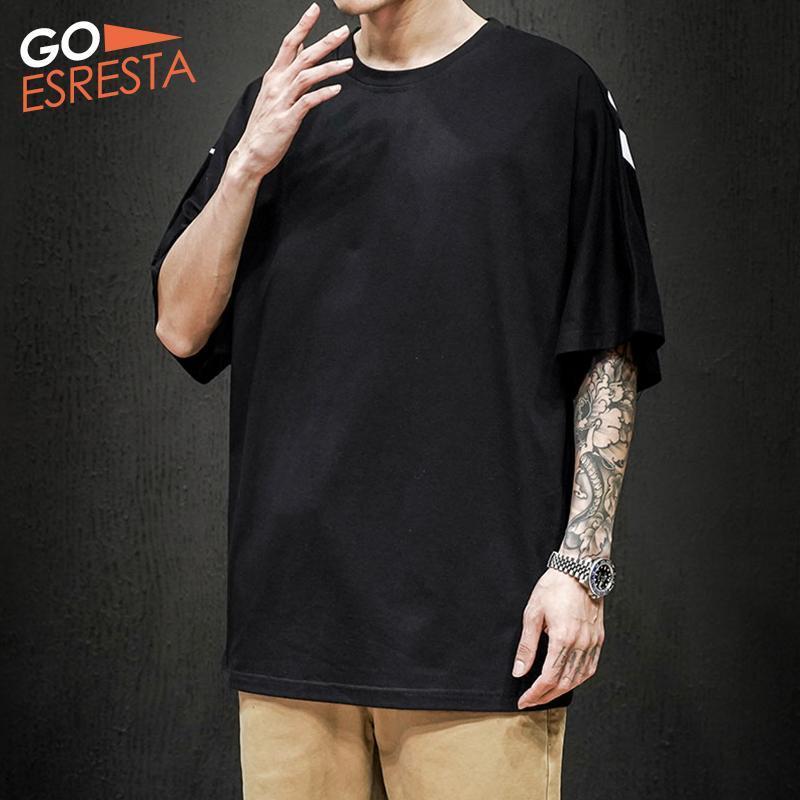 Men's T-Shirts GOESRESTA 2021 Summer Short-sleeved Cotton Casual Wild Loose M-5XL Printed Street Fashion Breathable T-Shirt Men