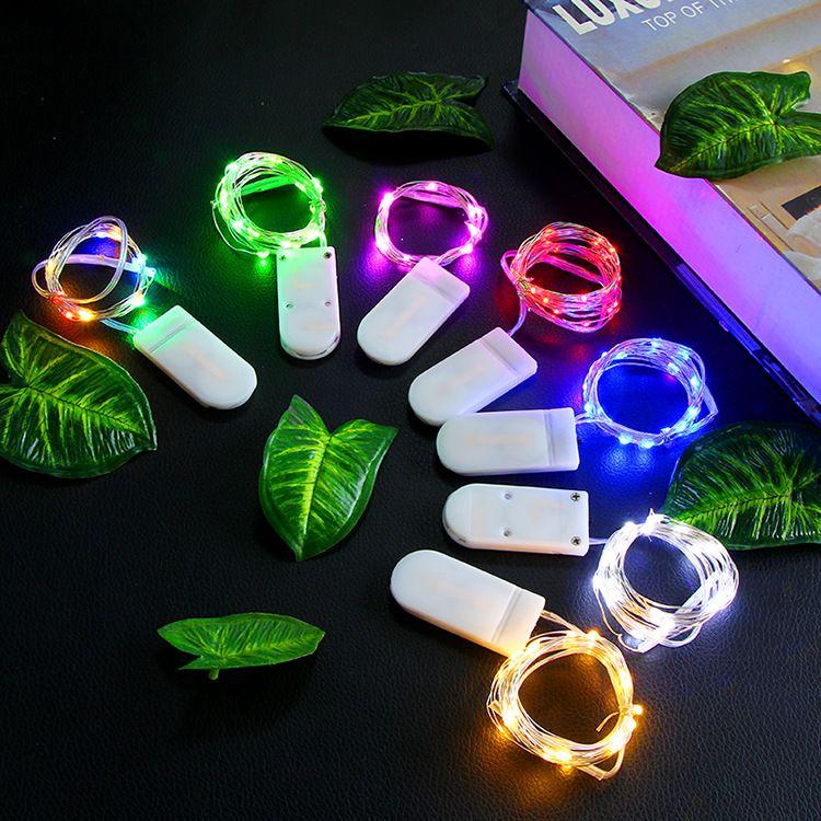 boîte boîte pile bouton chaîne lampe LED cadeau gâteau fleur lampe chaîne de décoration Cola lumières de décoration de Noël lampe étoiles