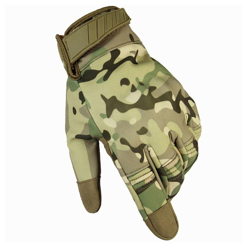 Men winter outdoor Touch Screen Tactical Gloves Military Full Finger Multicam Camouflage Climbing Shooting Paintball Gloves