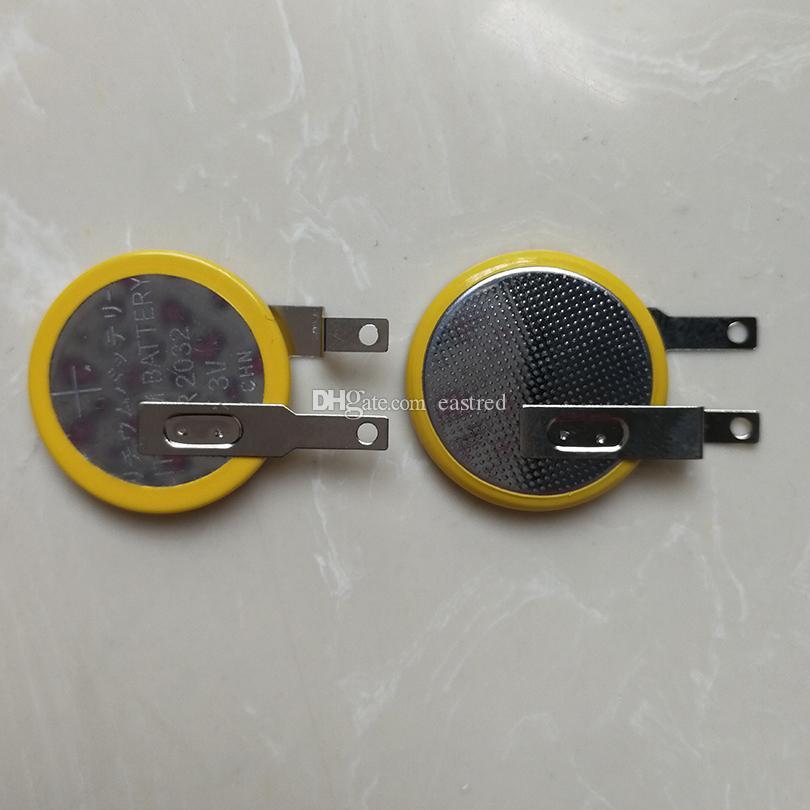 Batería de la celda de botón CR2032 de soldadura con soldadura con alfileres / pestañas 200pcs por lote