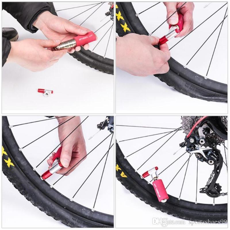 Portable Pump Air CO2 Inflator Tire Wheels Repair Aluminum Alloy Cycling Bike