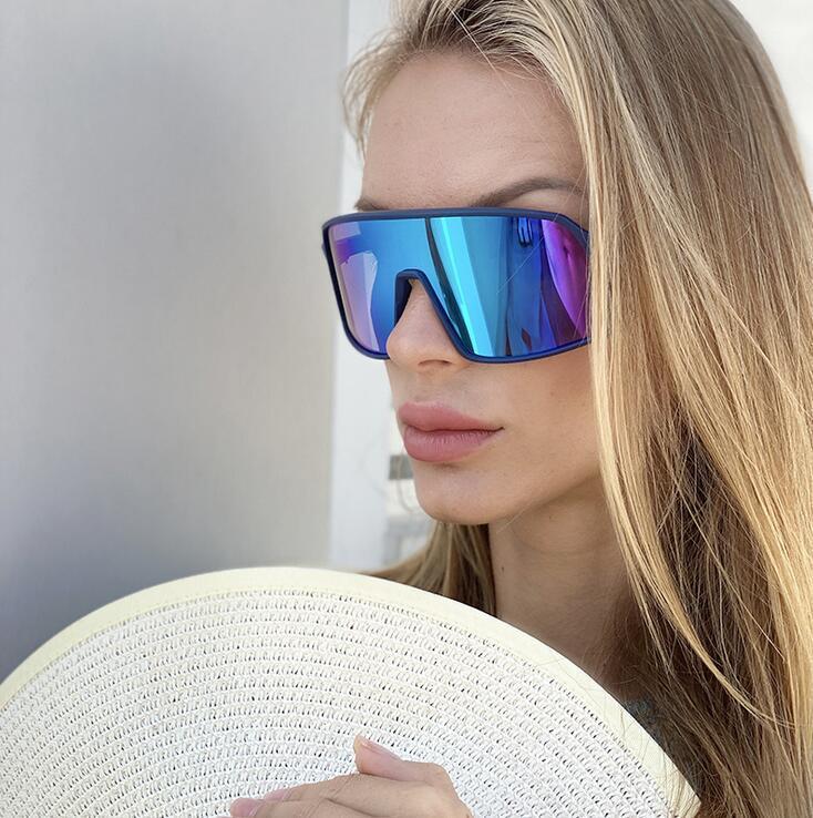 Bayanlar Lunette Femme Sürüş Seyahat Gözlük óculos için Seksi Kare Büyük Boy Güneş Kadınlar Moda Marka Güneş Gözlükleri femal Kahverengi tonları