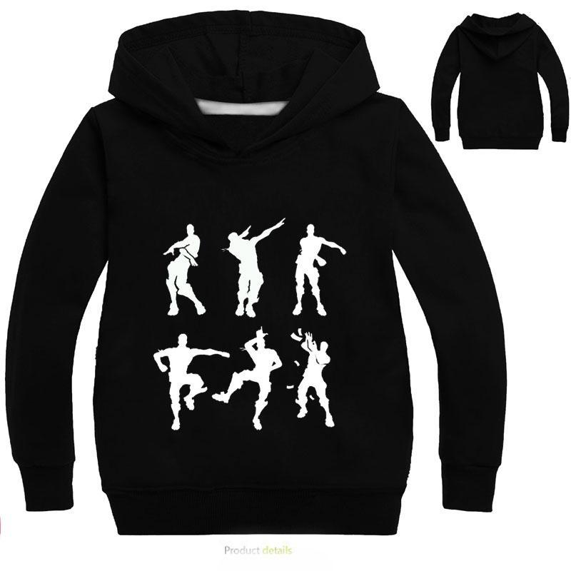 DLF 2-16Y enxugando Crianças Meninos Hoodies e camisolas Bebés Meninas Hoodie Dança OutwearCoat adolescentes dos desenhos animados Tops Casual Hip Hop