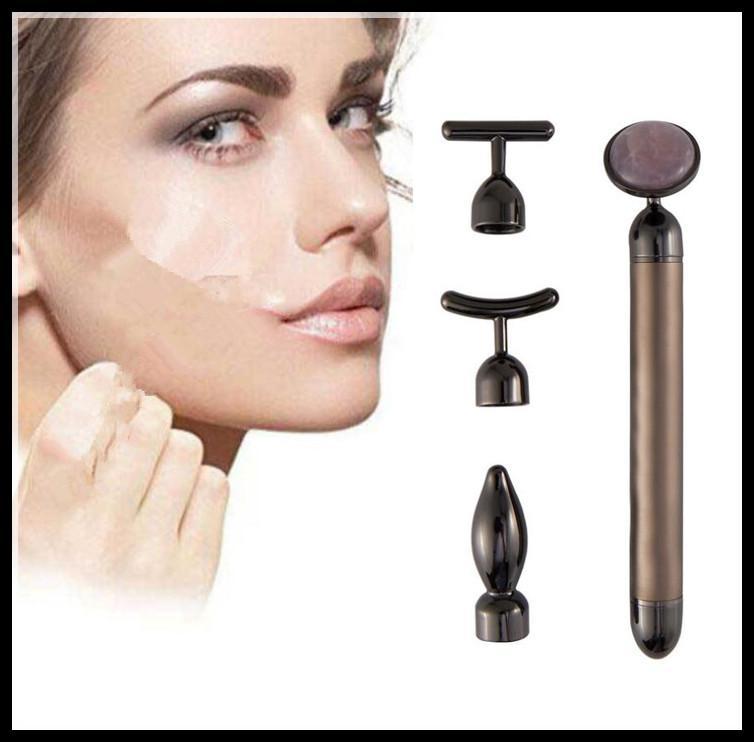 Elétrica Slimming Cuidados Face Lift Facial Bar vibração Equipamento da beleza do rolo Facial Massager vibração 4 em 1 Energia Bar