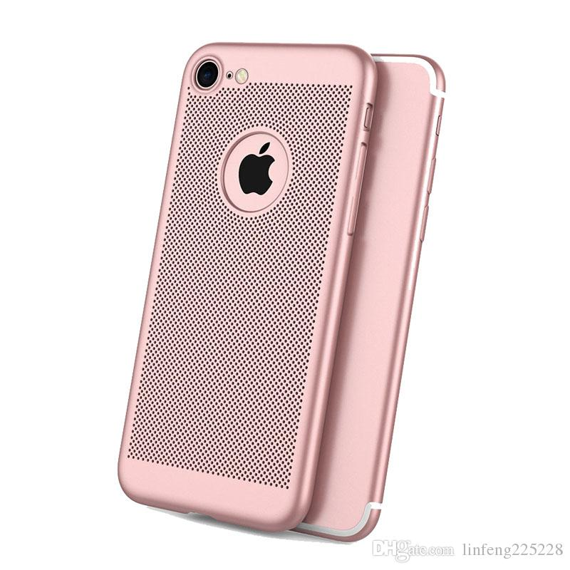 Free shipping New breathable mesh cooling matte drop protection mobile phone case FOR IPHONE 6 6S 7 8 X XS XR MAX PLUS