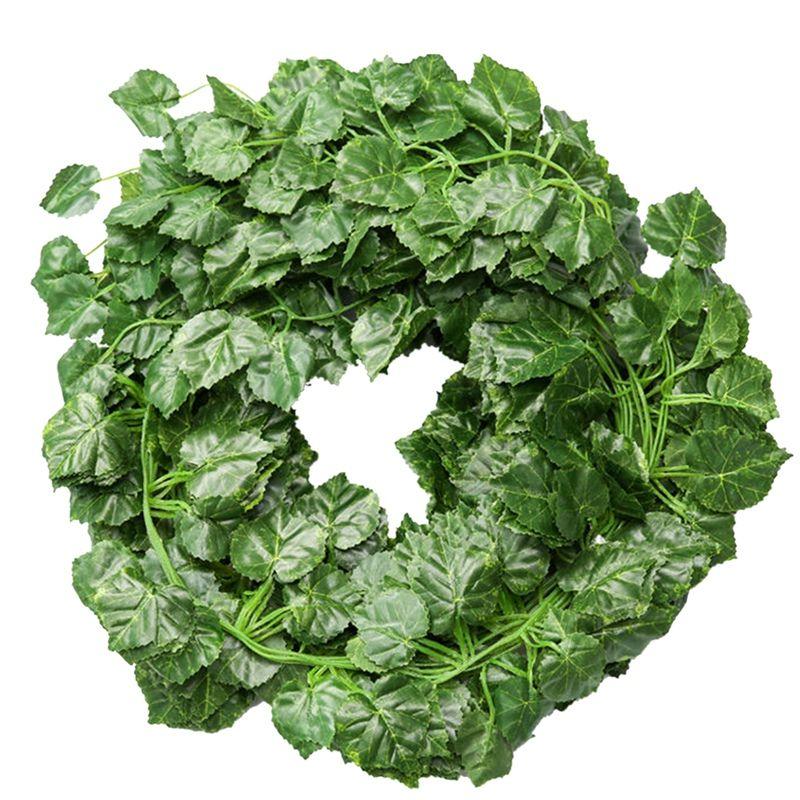 24 Pcs Ivy artificielle Feuille Garland Fausse plante Ivy vigne pour Hanging Garden Party de mariage Décoration murale Feuilles de vigne