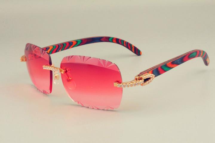 2019 نظارات شمسية ذات نمط ألوان طبيعية من الطراز الأكثر مبيعا تصميم فريد من نوعه ، نظارات ماسية 8300765 منقوشة