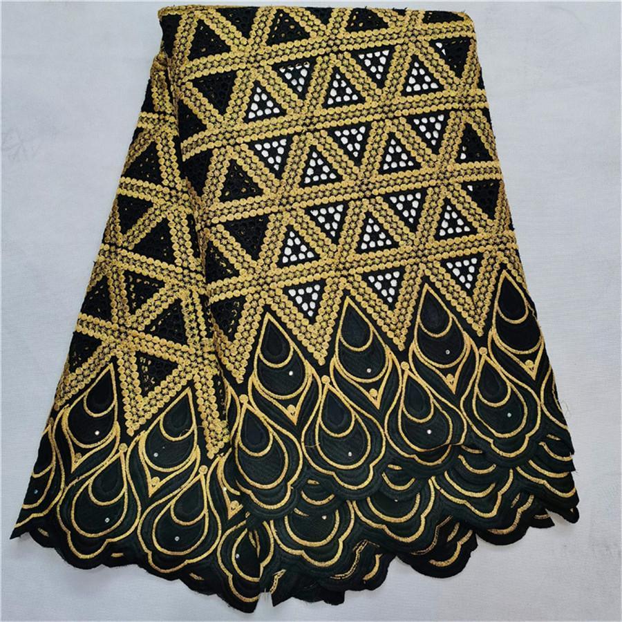 tela africana del cordón al por mayor 2019 de encaje de alta calidad de la tela Dubai cordón de la gasa suiza en 5yards tela de brocado de Nigeria