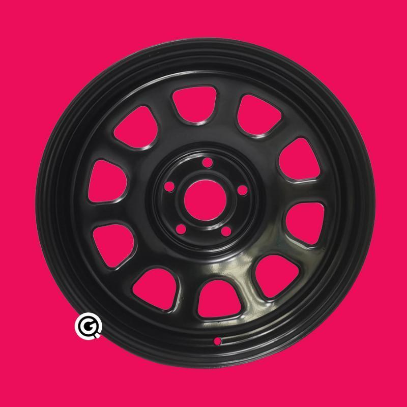 18inch steel wheel 5X120.65 Discovery 2 4 rim 8inch 7.5 inch gloss black milky white mat black -19 offset