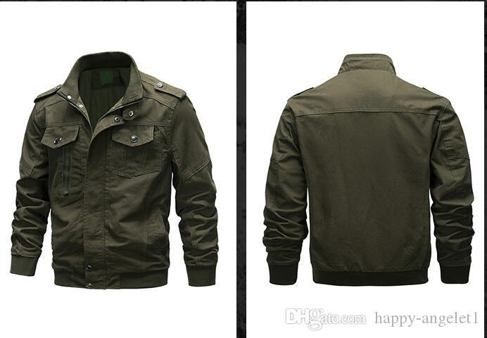 Ücretsiz Kargo Erkek ceketler Dış Giyim Ordu ceketler Coats Saf Pamuk Gençlik Üniformalı Kalite Sonbahar Ceketler