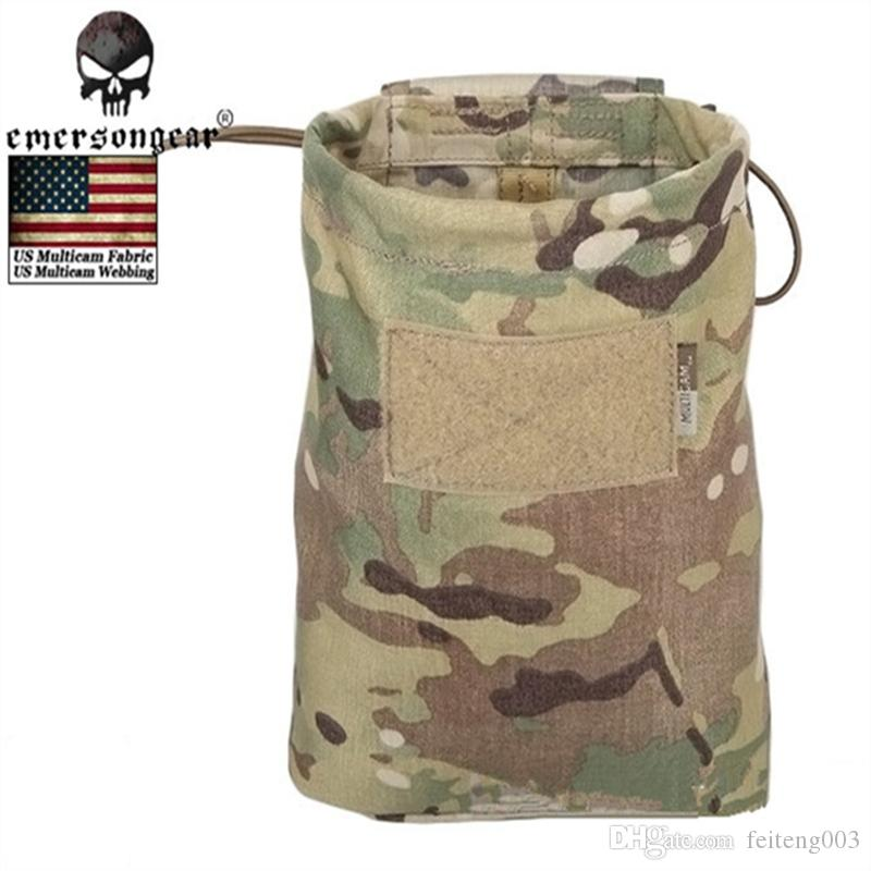 New EMERSON Large Capacity Waist Molle Military Tactical Airsoft Paintball Hunting Folding Mag Recovery Dump Pouch MC CB MCBK #562913