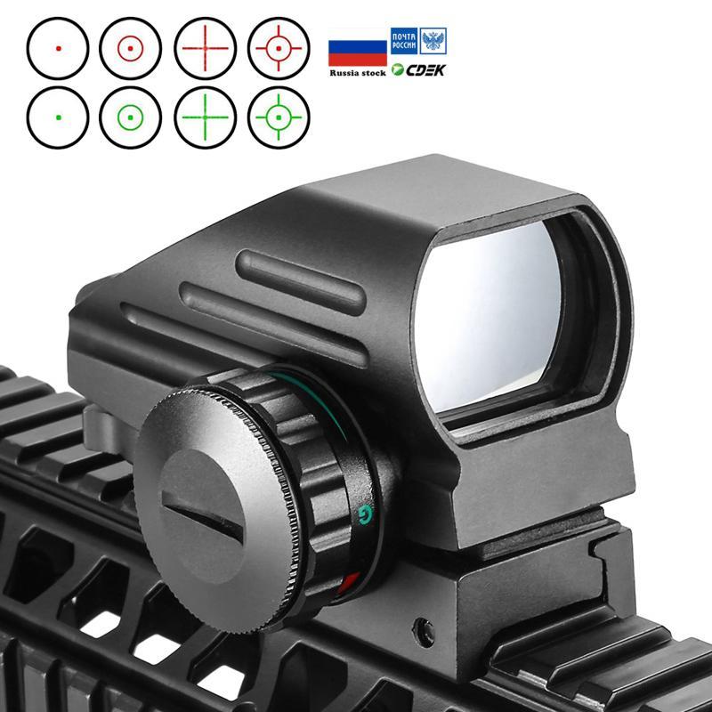 التكتيكية رد الفعل أحمر أخضر ليزر 4 شبكاني التصوير المجسم المتوقعة نطاق البصر نقطة أيرغون مشهد الصيد 11MM / 20MM السكك الحديدية جبل AK