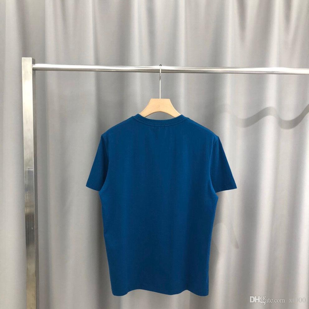 entrega gratuita nova primavera camisola moda e algodão novo alto grau de verão impressão de manga curta tamanho t-shirt do painel em torno do pescoço S-XXL ZP018