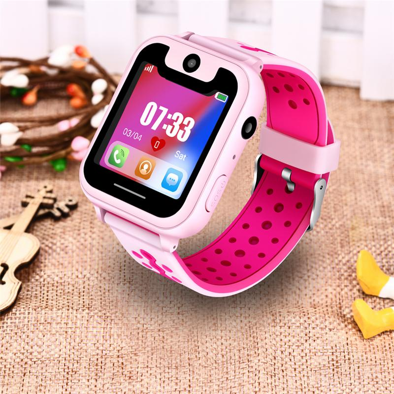 LIGE 2019 New children's smart watch GPS remote positioning SOS emergency mobile phone reminder voice chat support SIM camera SH190929