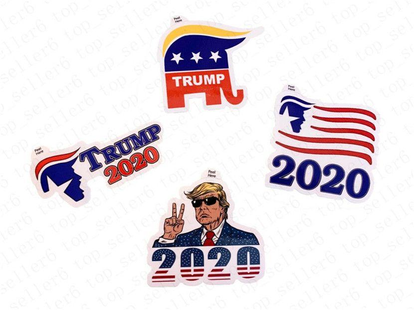 Donald Trump Notebook Sticker 2020 US presidente americano Elezione Trump Paster vendita calda Trump giocattolo regalo autoadesivi adesivi bambini D52217 caldo