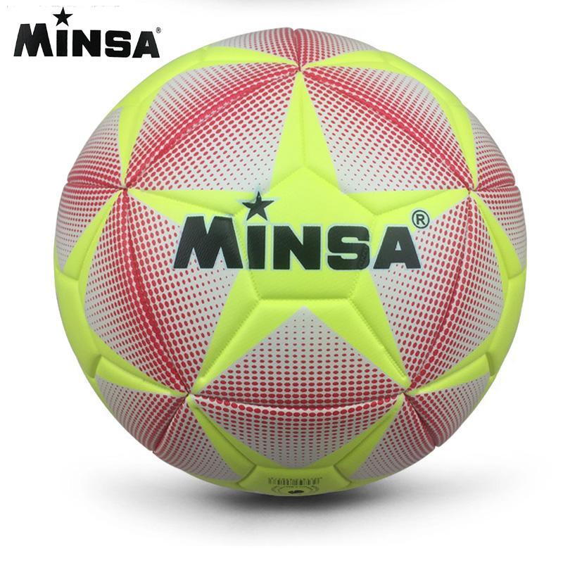 2017 MINSA 고품질 크기 5 PU 축구 공 축구 공 일치 훈련 공에 대 한