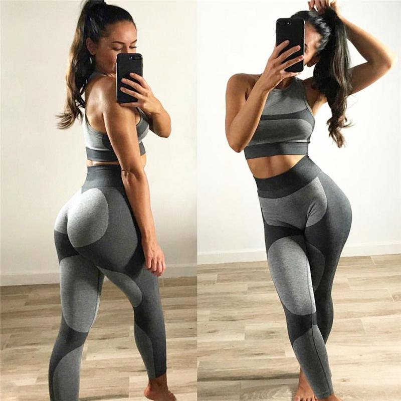 Hot 2020 Sexy Running Tights Women Gym Sports Wear For Fitness Clothing Girls Jogging Pant High Waist Workout Legging Summer