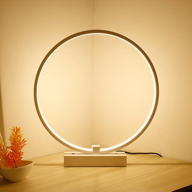 Moderna lámpara de mesa para el dormitorio de la sala de lectura de luz de lámpara de escritorio de oficina botón Shade interruptor del empuje del español El Defensor iluminación RW45