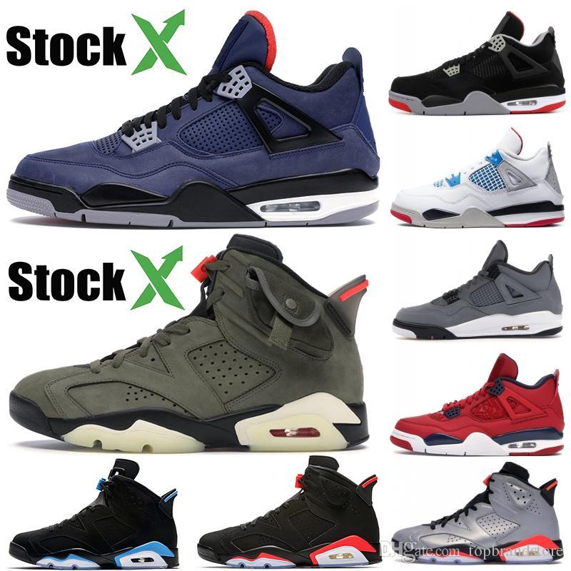 New Jumpman 4s 6s Winterized Leal Azul O que FIBA criados Cactus Jack refletir prata CNY sapatos homens infravermelhos preto de basquete esportes sapatilha