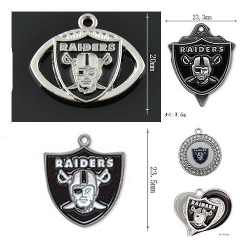 Yeni Emaye Futbol Spor Takımı Oakland City Charms kolye için DIY Bileklik Gerdanlık Küpe Takı 20pcs Yapımı / lot