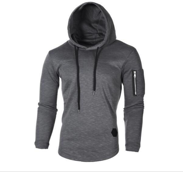 Moda con capucha de la chaqueta causal abrigos otoño e invierno jacquard cuello redondo con capucha brazo de manga larga con cremallera de costura suéter largo viento