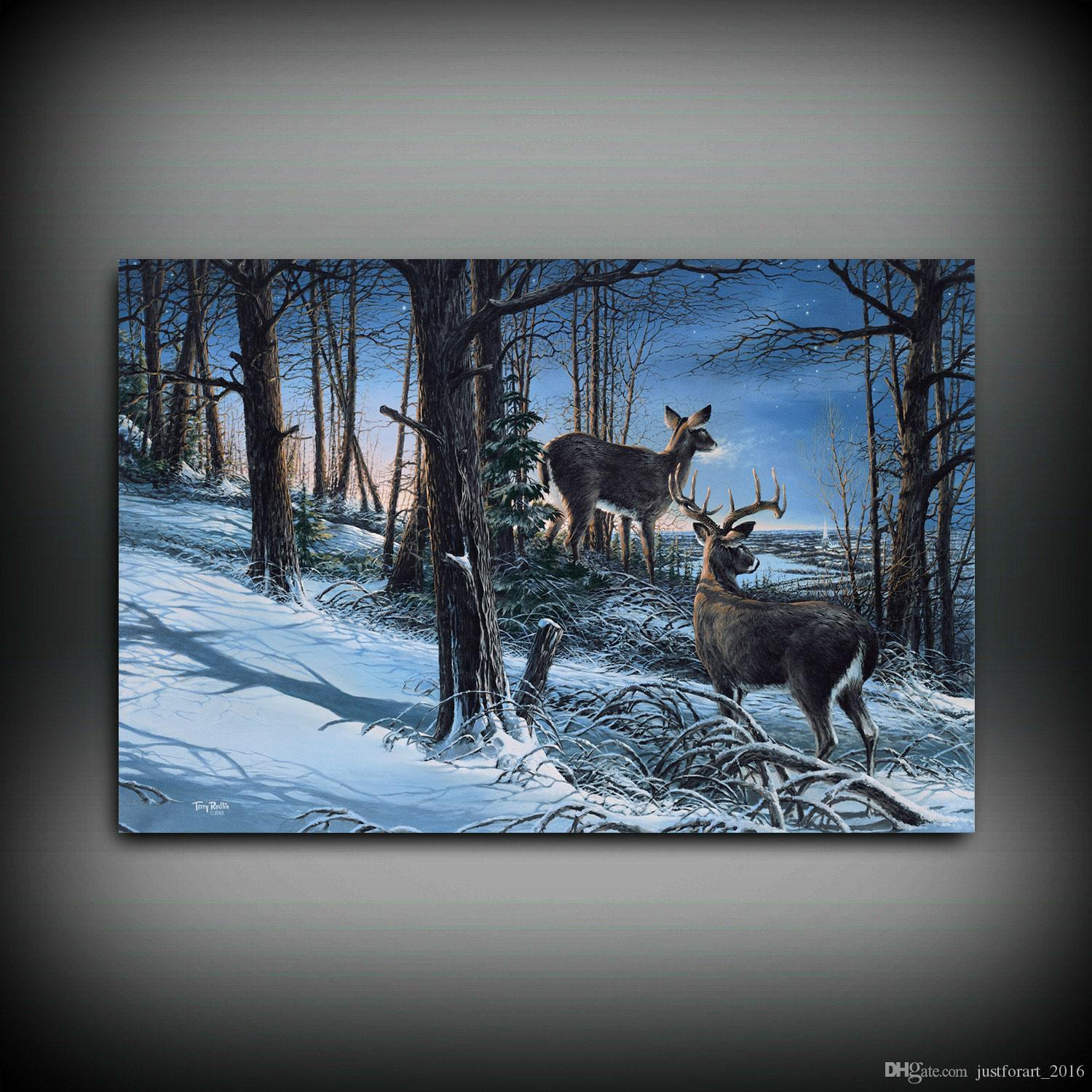 Terry Redlin Master of the Valley HD Print Art Home Decor Oil Painting on Canvas