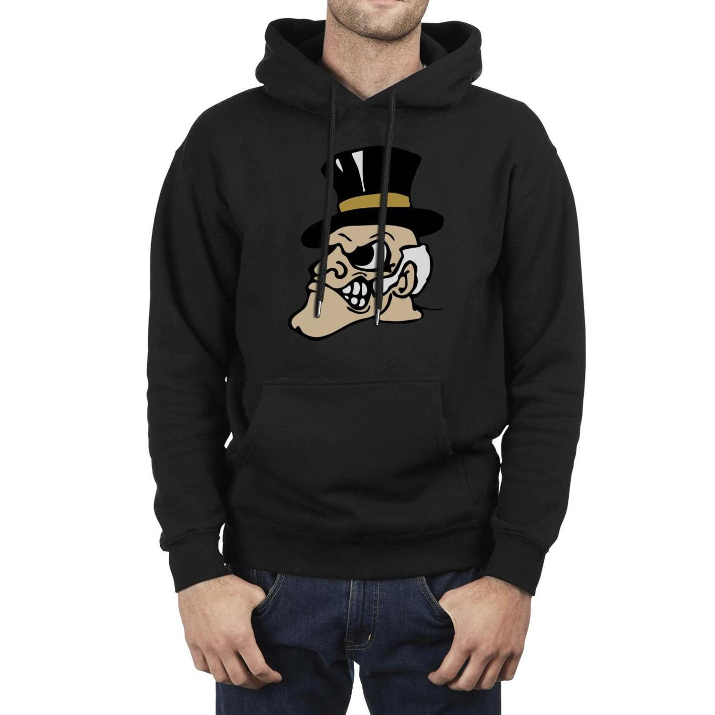 Fashion Men Wake Forest Demon Deacons basketball logo black Fleece Sweatshirt Personalised Cool Band Hoodies Marble Print old pink