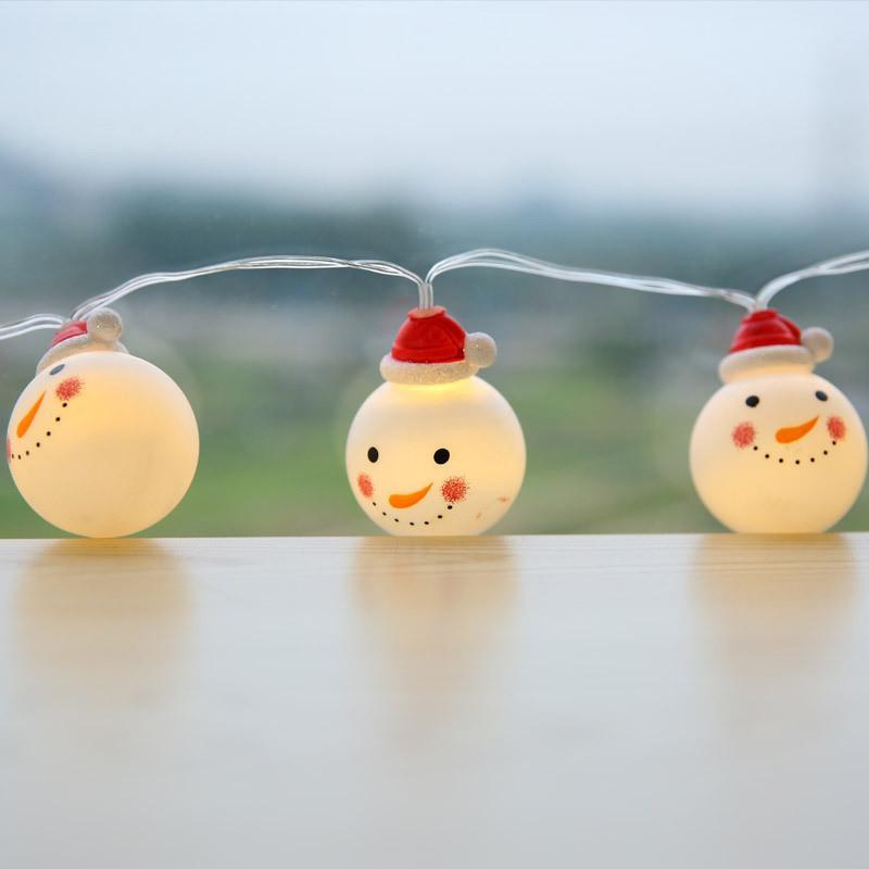 Fábrica QYZSD 3 / 4,5 / 6 Luz da festa de casamento / fada 7.5M Cordas bonito do boneco de neve White Christmas Árvore do Windows Lâmpada Plastic Início Jardim X