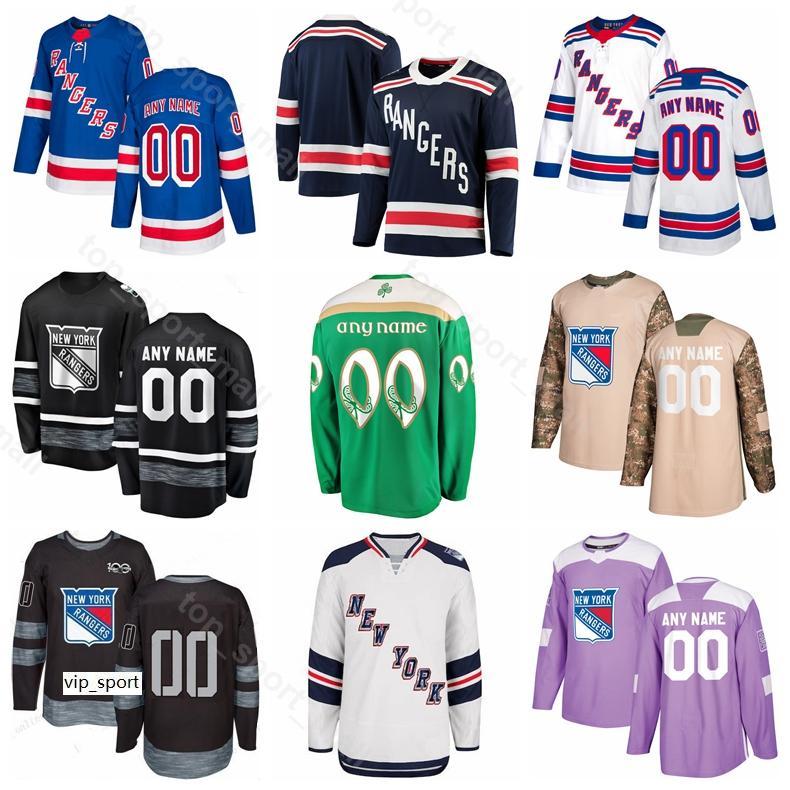 New York Rangers Hockey sobre hielo Mika Zibanejad Jersey Mats Zuccarello Henrik Lundqvist Mark Messier Chris Kreider Brady Skjei Stadium Series