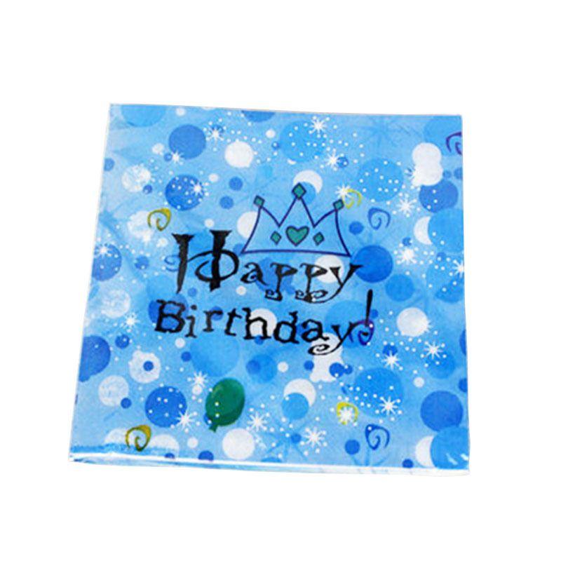 1 takım Tek Kullanımlık Sofra Set Mutlu doğum günü Taç Tarzı peçete Doğum Günü Partisi Bebek duş çocuklar 1st gün Düğün DIY dekorasyo ...