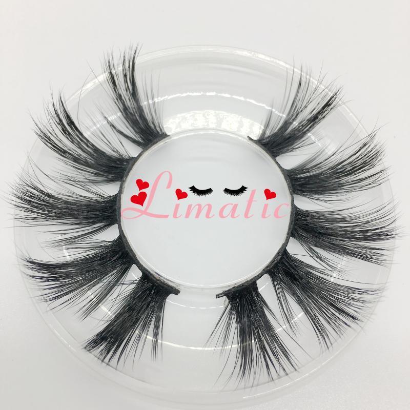 Herramientas de maquillaje de ojos pestañas falsas Etéreo reutilizable 5D imitación de visón sintético 25mm largas pestañas Limatic