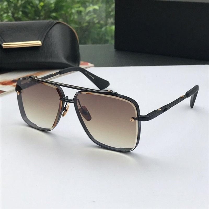 Atacado-Novo luxo óculos estilo de moda framele quadrado UV 400 lente homens projeto do metal do vintage óculos de sol com embalagem original