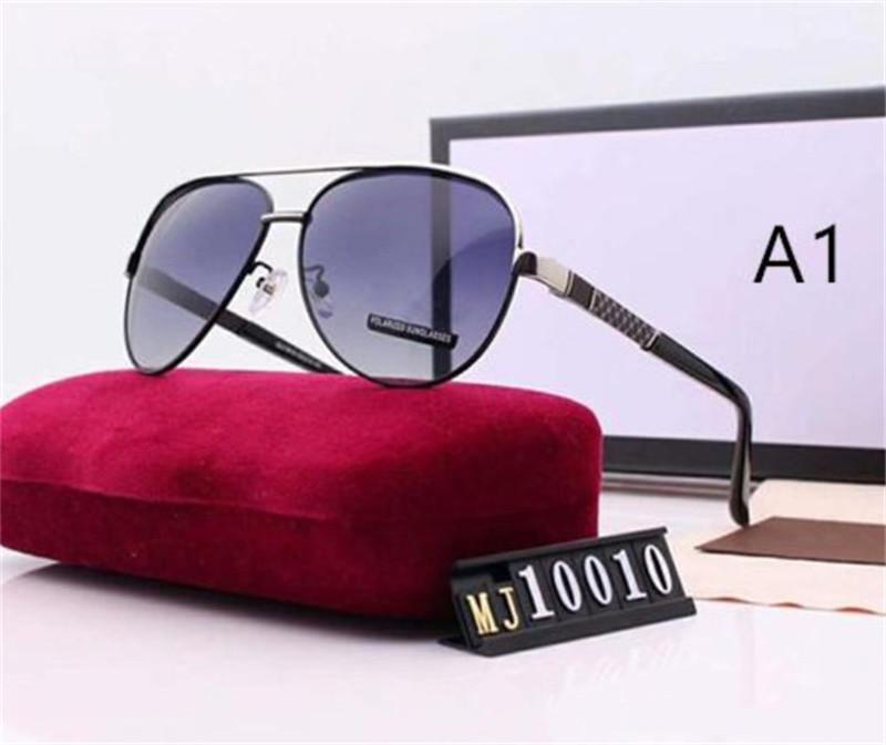 Playa de los hombres gafas de sol del verano de los anteojos Hombre que conduce las gafas de 8 colores con alta calidad con la caja