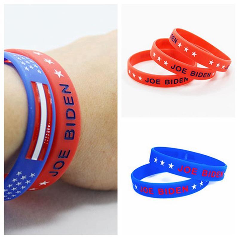 Joe Biden Bilezik Kırmızı Mavi Silikon Bileklik Joe Biden Cumhurbaşkanı Seçimi Silikon Bilezikler Bileklikler Parti Hediyeleri IIA239