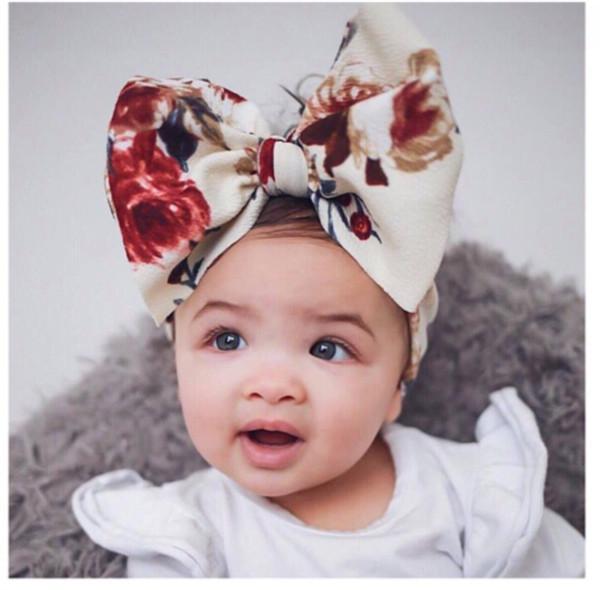 8 colori accessori dei capelli del bambino infante grande papillon fasce Fiore headwraps bambini fasce per capelli carino principessa