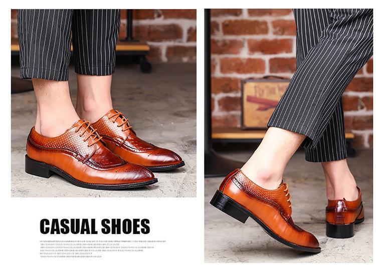 scarpe oxford pu scarpe modello abito scarpe di coccodrillo di scarpe di tendenza buon modo caldo di vendita del 2018 per gli uomini zy014