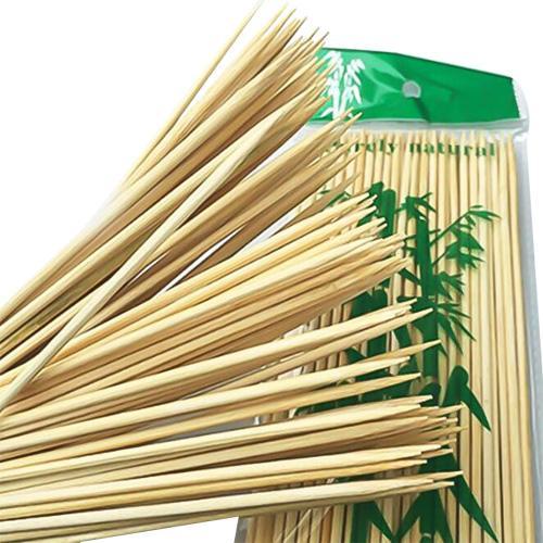 25 cm * 2.5 MM uzunluk Tek Kullanımlık Bambu Sticks Barbekü Araçları Doğal BARBEKÜ Bambu Şiş Şiş Barbekü Kabob için Kapalı Açık Izgara