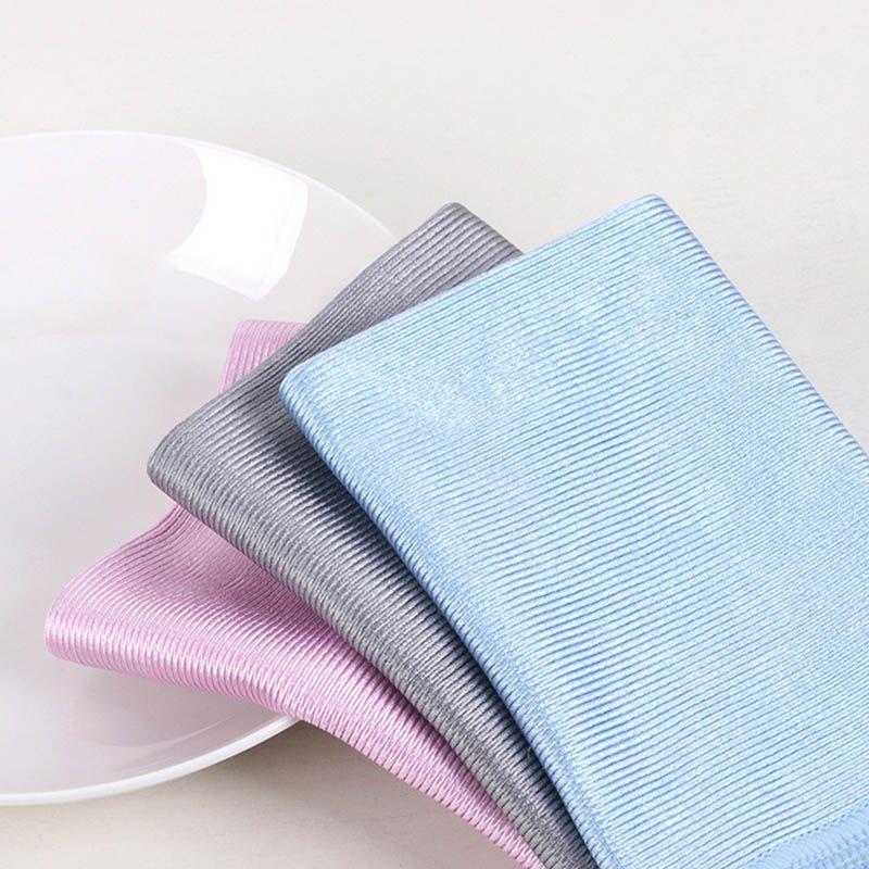 3 الحجم لا تتبع لينة ستوكات امسحي الزجاج قماش تنظيف منشفة للامتصاص لا ينت نافذة السيارة خرقة مطبخ تنظيف القماش المسحات