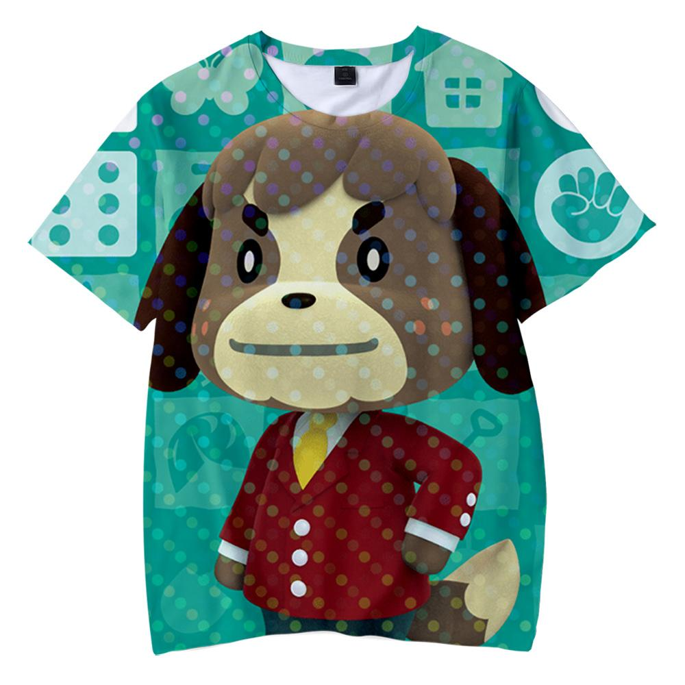 2020 Animal Crossing 3D Printed Children t shirt Fashion весна / лето футболка с коротким рукавом Harajuku уличная одежда для детей