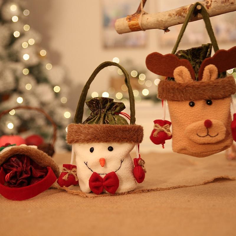 1pcs bolsos del caramelo del partido del regalo de caramelo de la Navidad Bolsa de Navidad Año Nuevo decoración del hogar para los niños regalo perfecto para los niños Accesorios