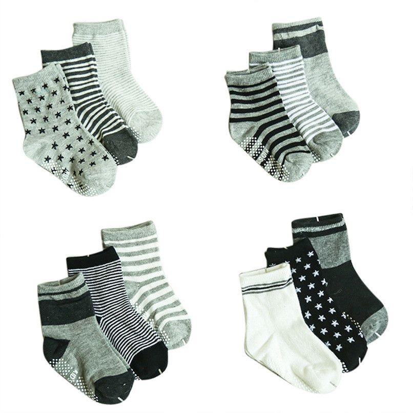 Kids Cotton Socks Boys Girls Laces Star Design Socks 12 Pairs Coloured Pattern