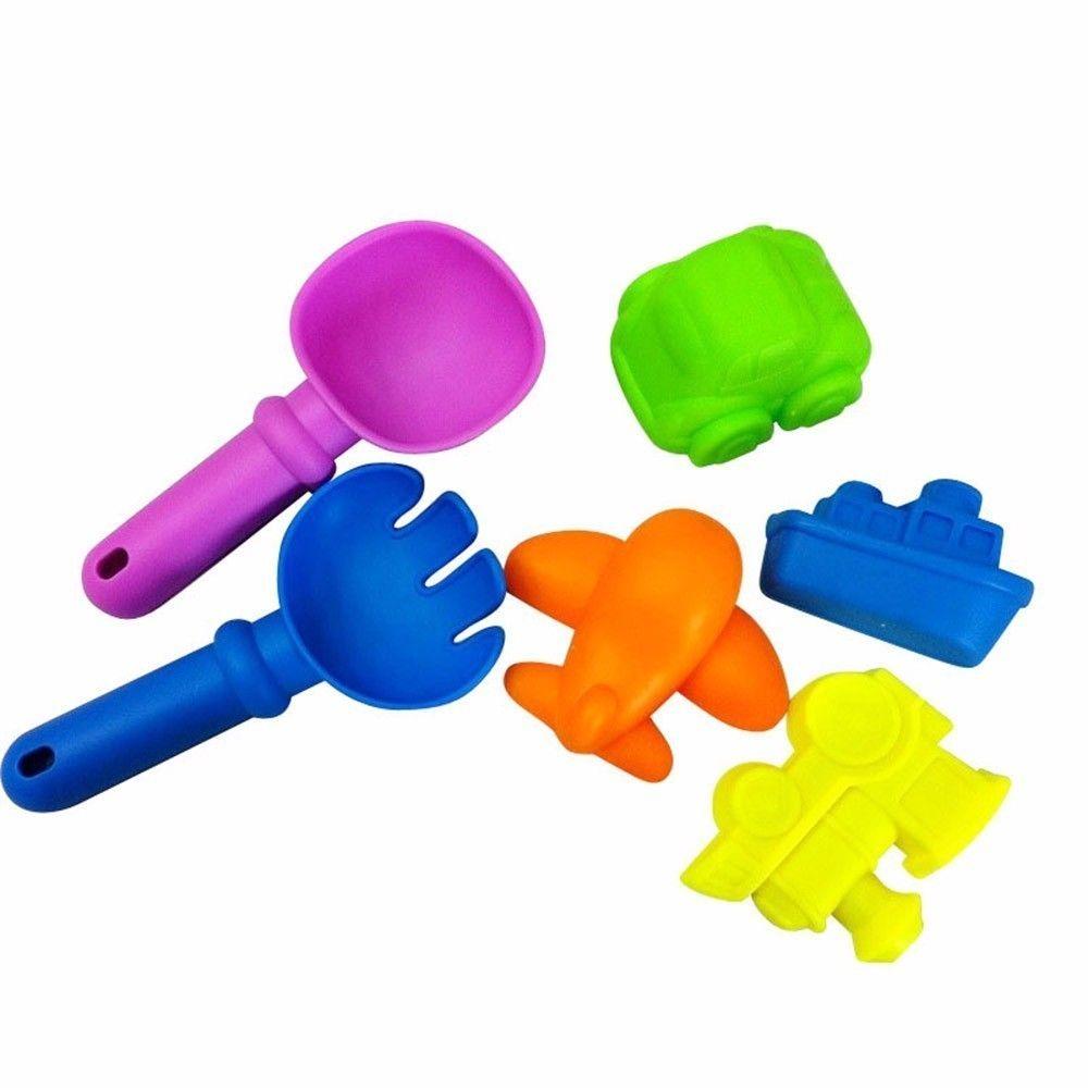 6 قطع شاطئ الرمال لعبة أداة مجموعة نماذج أدوات sandbeach أطفال مسرحية لعبة المجرف مجرفة الخليع المياه اللعب a889 بالجملة