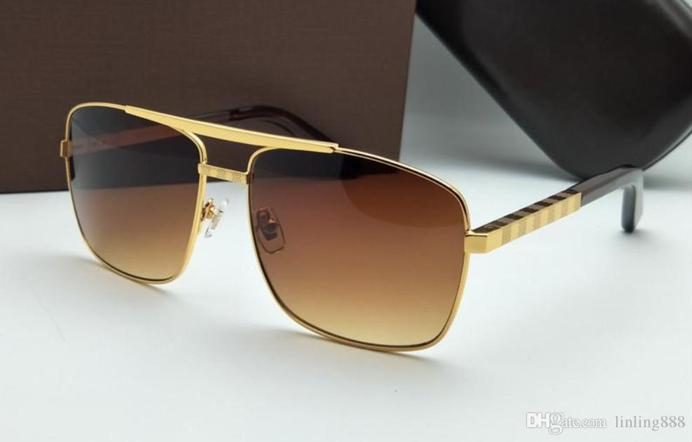 Erkekler güneş gözlüğü tutum sunglass altın çerçeve kare metal çerçeve vintage stil açık tasarım Womenl için klasik mod Metal Çerçeve Güneş Gözlüğü