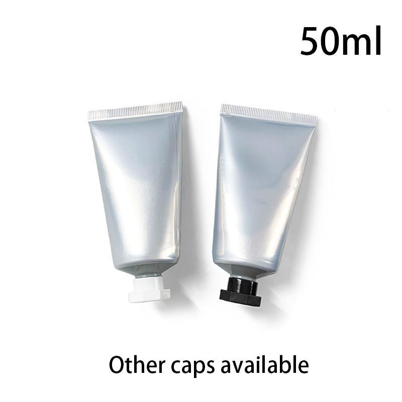 50ml Gümüş Alüminyum Plastik Kompozit Yumuşak Bottle 50g Kozmetik Vücut Losyonu Krem Konteyner sıkın Ambalaj Tüp Ücretsiz Kargo